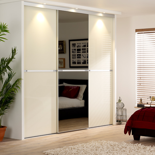 Coloured Glass Sliding Wardrobe Doors