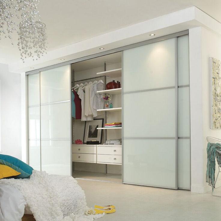 Completed installation of sliding wardrobes kit