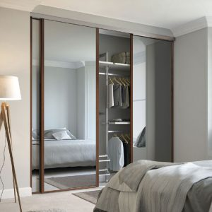 DIY fitted wardrobes with mirror panels