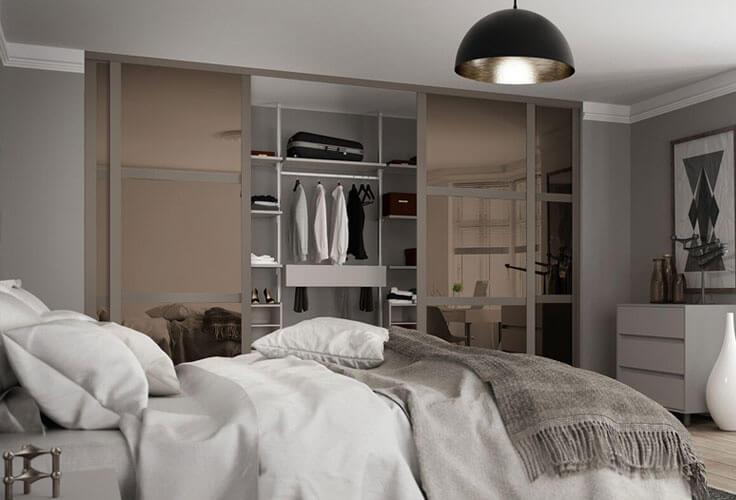 open sliding wardrobe doors
