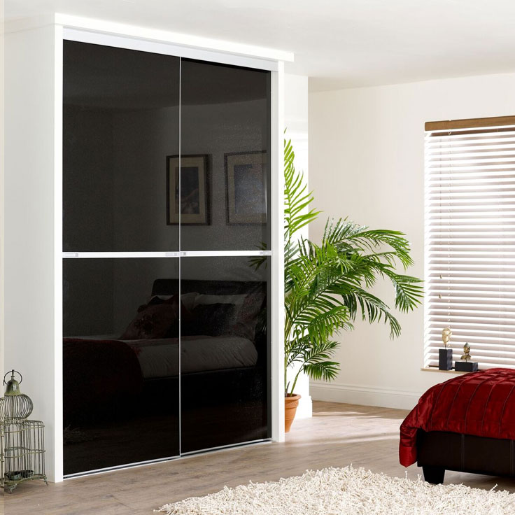 Minimalist Sliding Wardrobe Doors- Starlight black