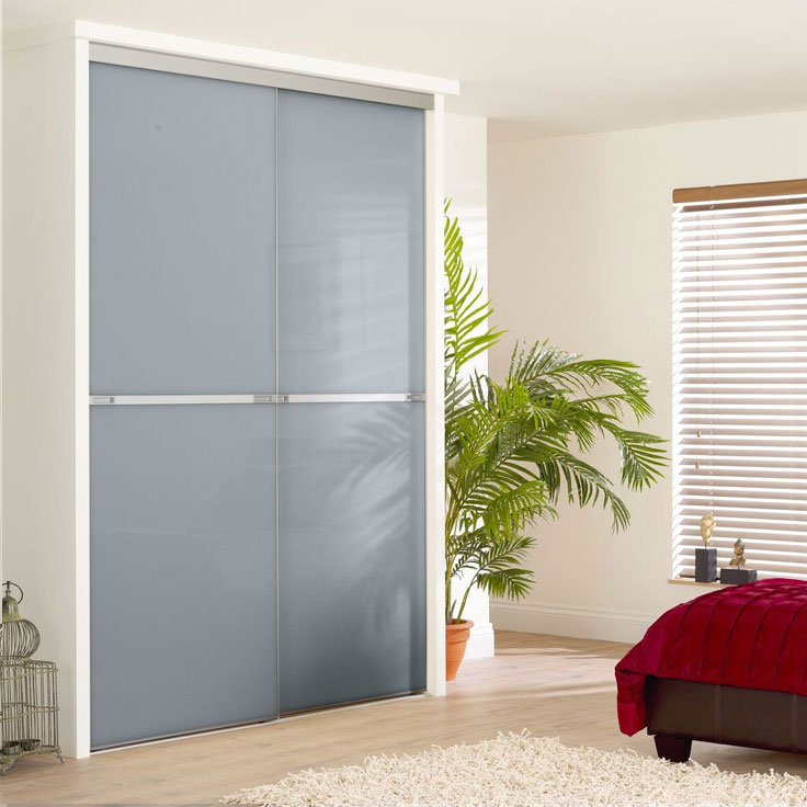 Minimalist Sliding Wardrobe Doors-Blue shadow