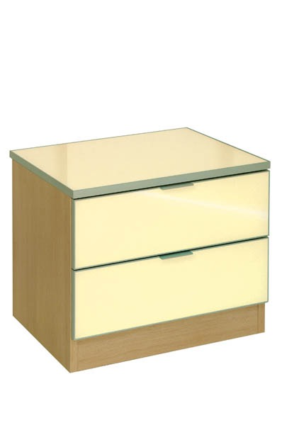 2 Drawer Framed Cream