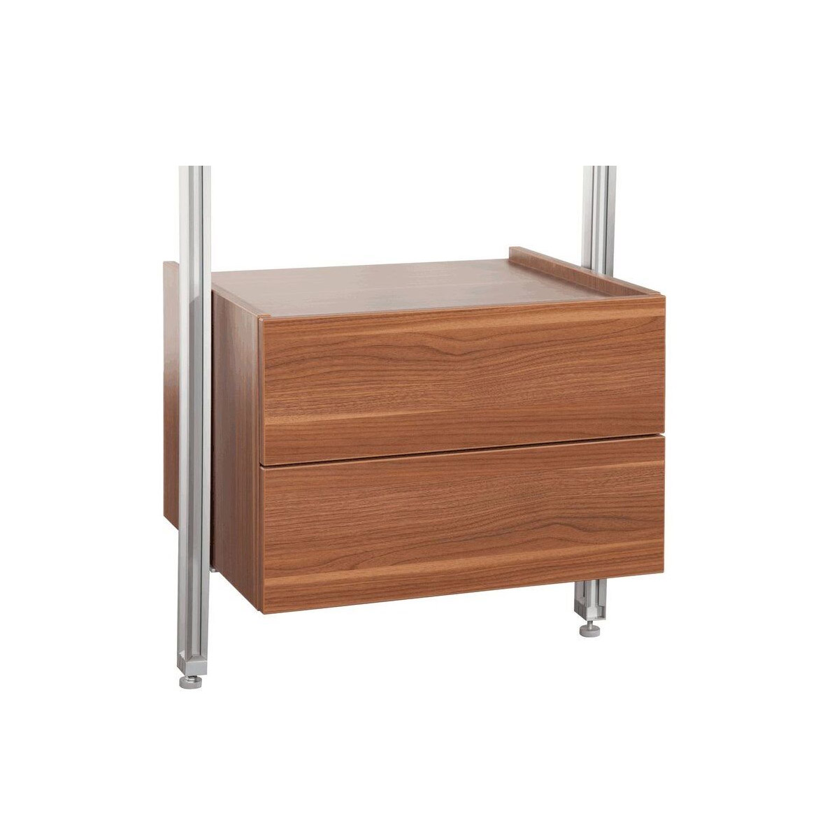 Relax Walnut Double Drawer Box Kit 550mm