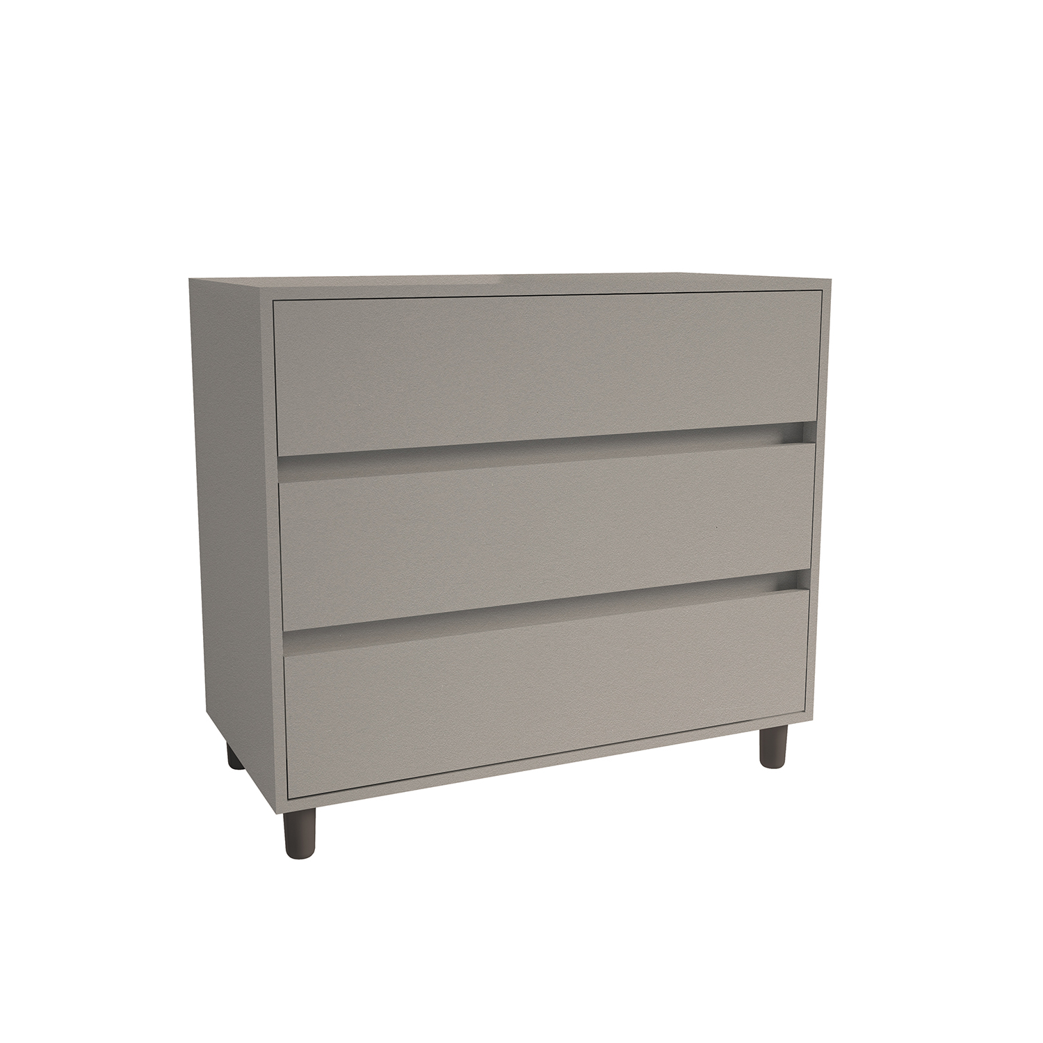 3 Drawer Chest Stone Grey