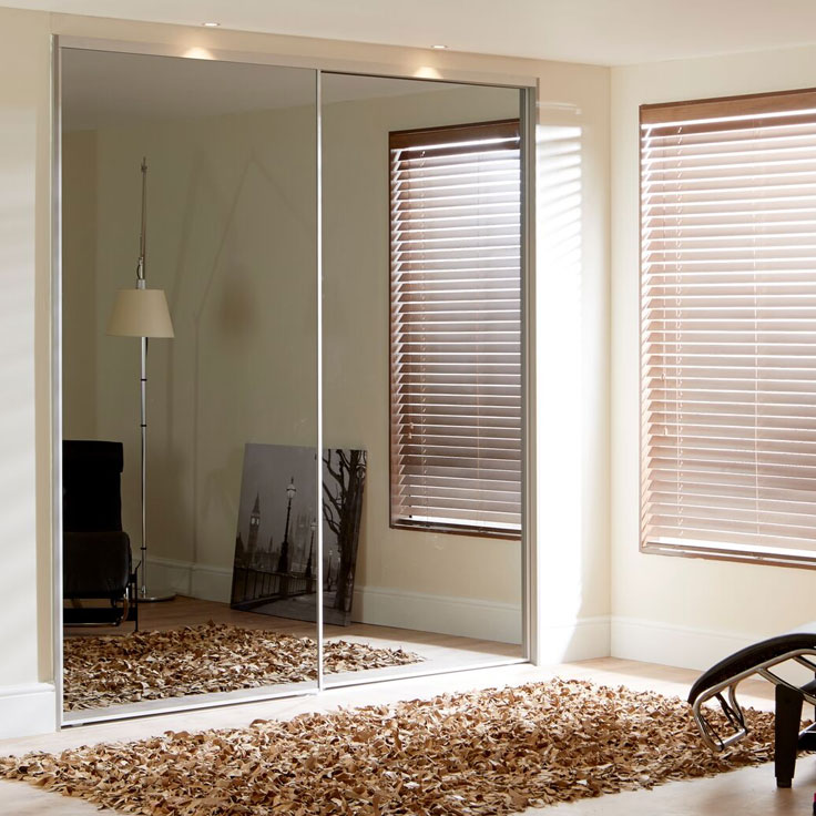 Metro Sliding Wardrobe Doors- Smoked Mirror